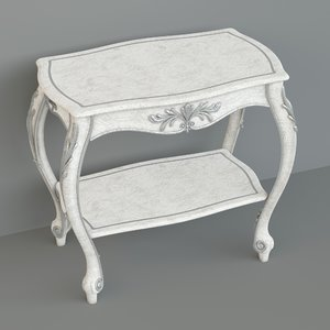 3d bedside table drawer model