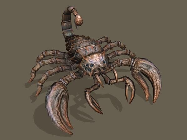 3d model mutant scorpion