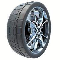 3d model sports car tire