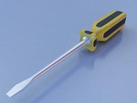 3d model screwdriver