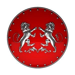 3d emblem lions model