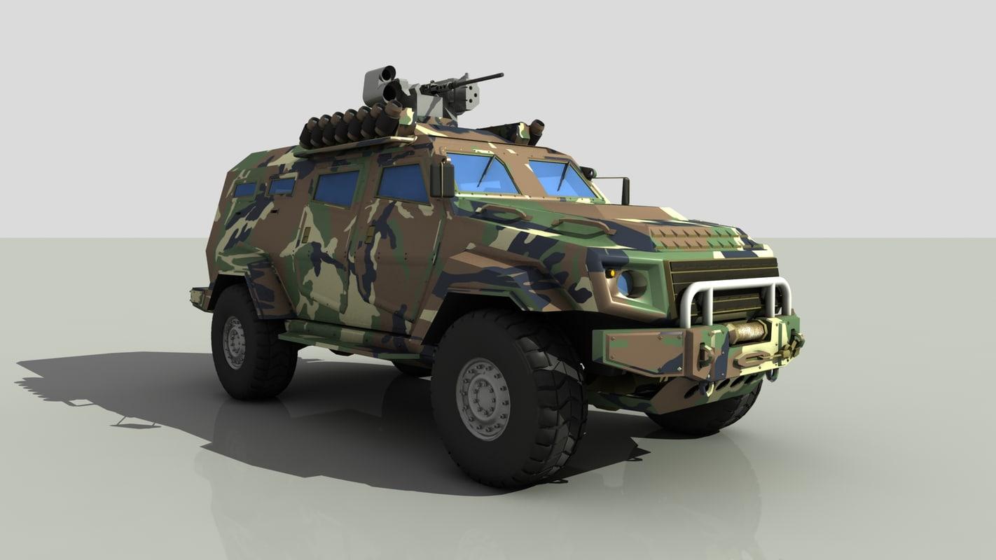 3d model turkish armored car cobra