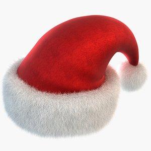 3d santa hat model