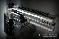 toy heavy revolver konstantin 3d 3ds