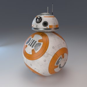 bb-8 droid star 3d obj