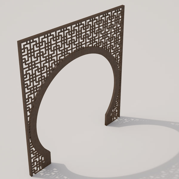 oriental style partition 3d max