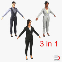 3d business womans 2 model