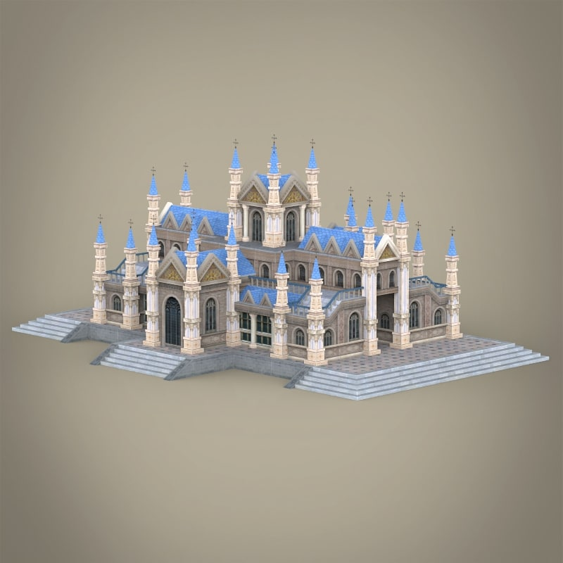 3d fantasy church building