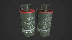 m18 smoke grenades 3d model