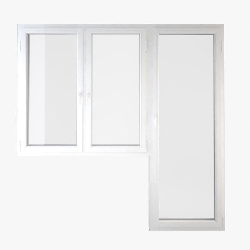 3d window door