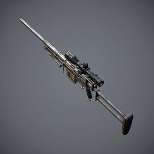 3dsmax sniper rifle
