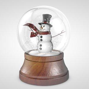 snowglobe globe c4d