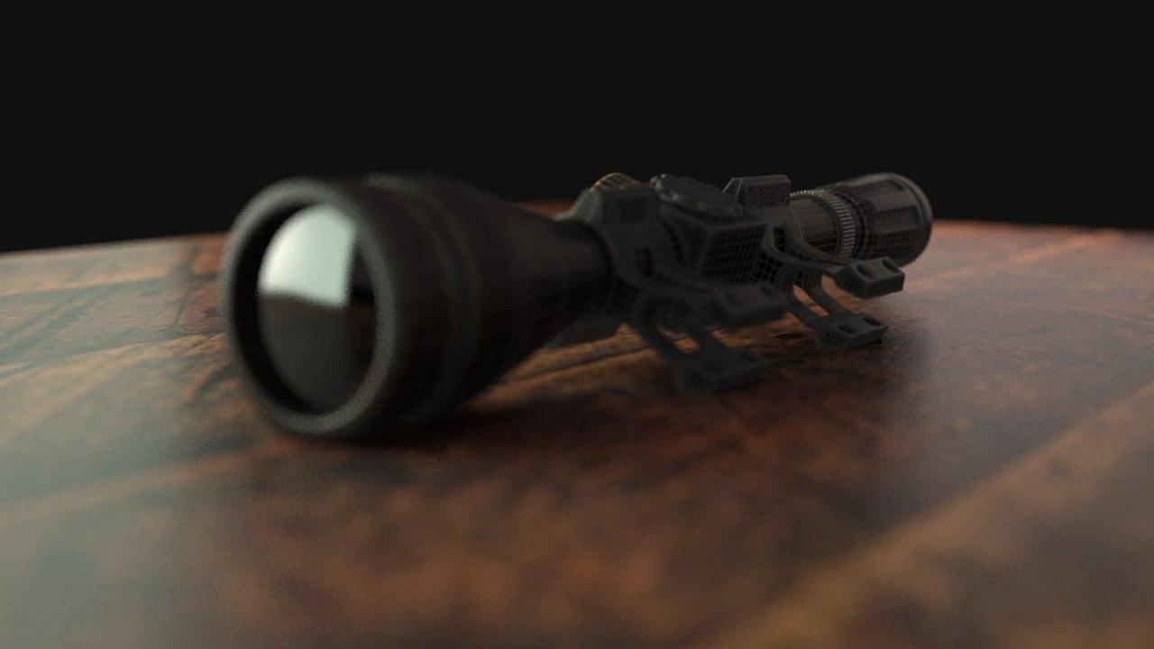 3d model sniper scope