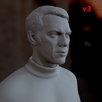 printable steve mcqueen male man obj
