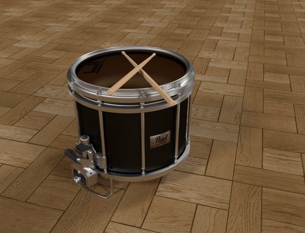 pearl marching snare drum 3ds free
