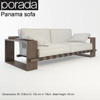 porada panama sofa 3d model