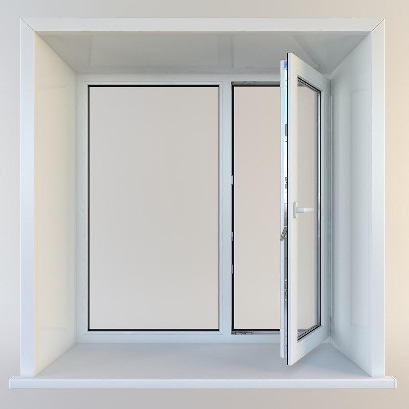 3d model window plastic pvc