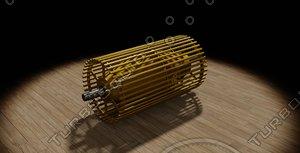 3d model bucket drum