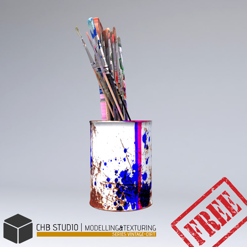 free jar brushes 3d model