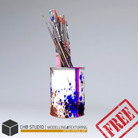 free jar brushes 3d model