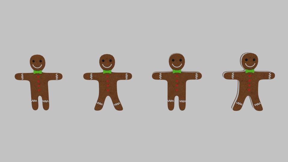 gingerbread cookie pack 3d 3ds