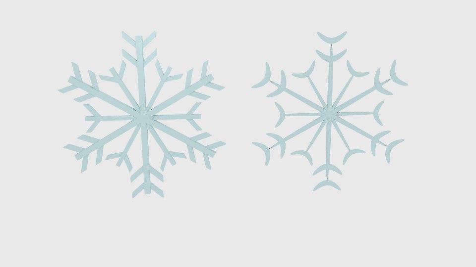 3d model snow flake snowflake