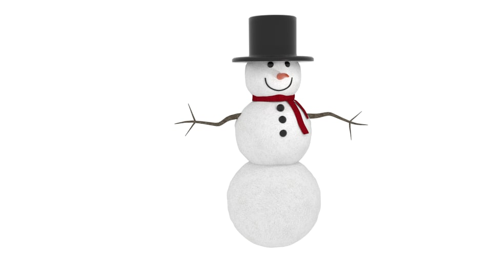 3ds winter snowman