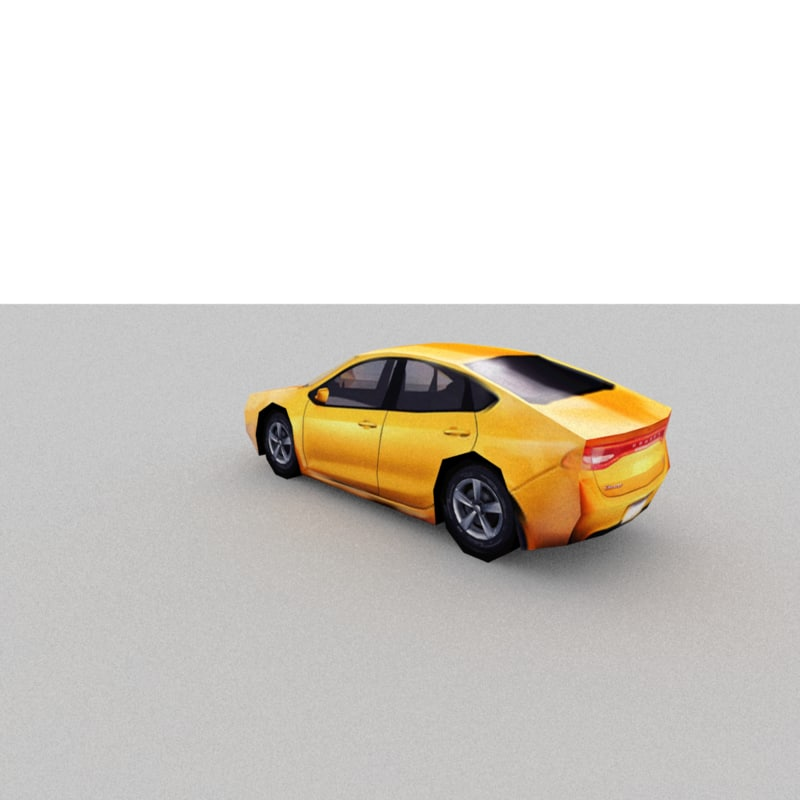 sedan car 3d 3ds