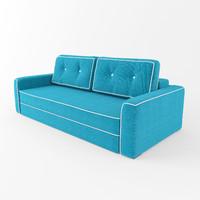 3d model sofa silvio pufetto