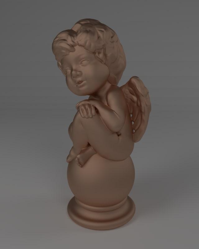 3d model sculpture angel