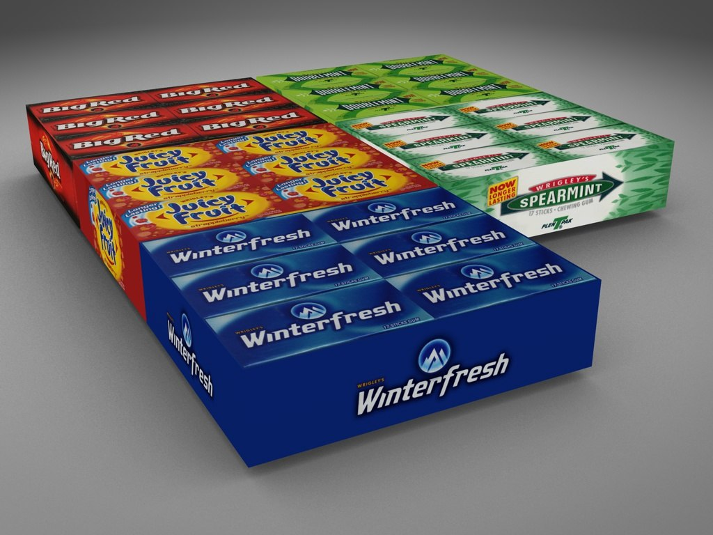 wrigley products 3d dxf