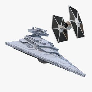 star destroyer tie fighter max