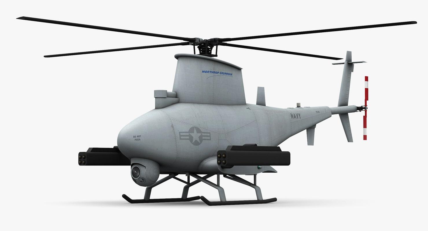 3d northrop grumman mq-8b scout