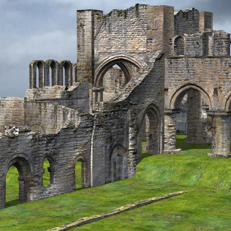 3d monastery ruins model
