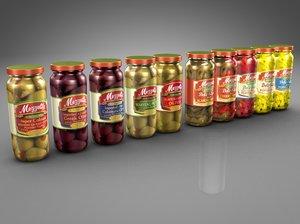 jar olives peppers 3d 3ds