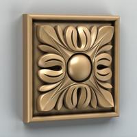 3d square rosette model