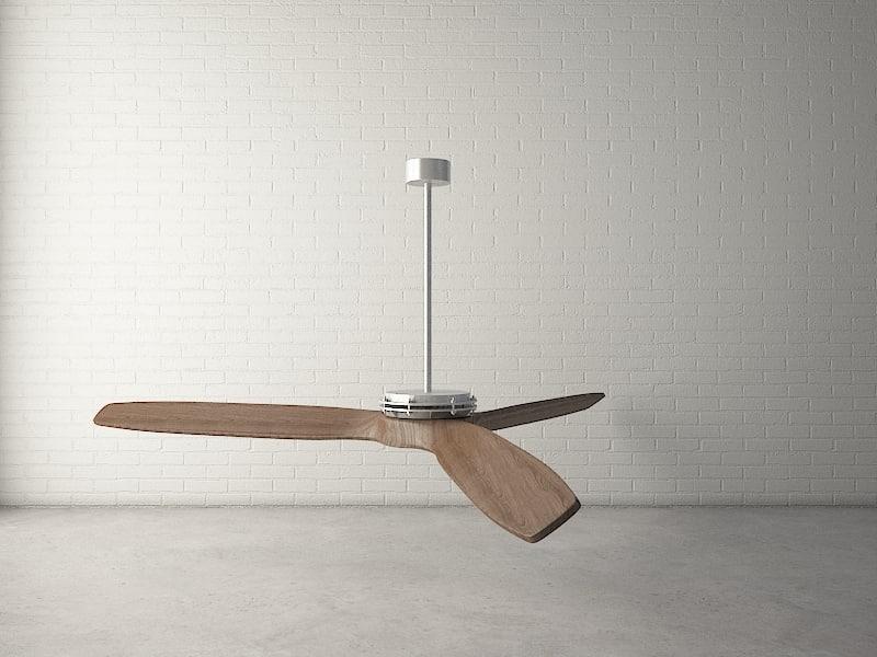 3d model custom designed ceiling fan