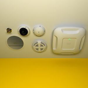 ceiling retail security 3d model
