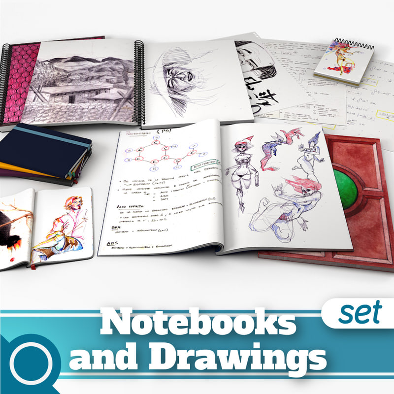 3ds max notebooks drawings