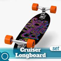 sector 9 complete longboard 3d model