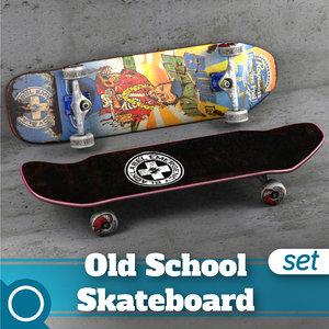 hawaiian pool complete skateboard 3d max