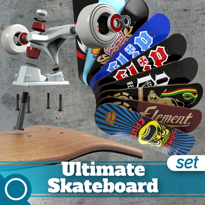 ultimate skateboard 3d max