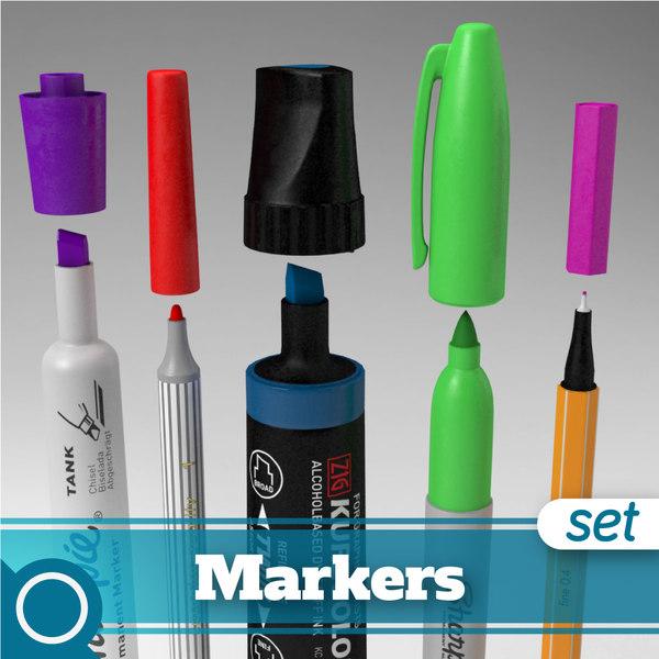 3d markers stabilo edding model