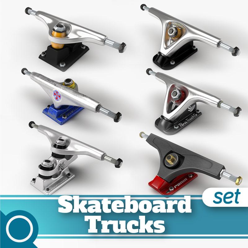 skateboard trucks longboard c4d