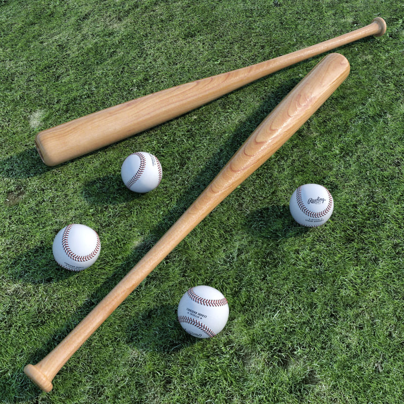 3d model of ball bat