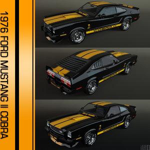 1976 mustang ii cobra 3ds