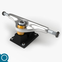 skateboard truck 3d max