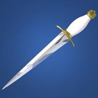 3dsmax dagger arkansas toothpick 02