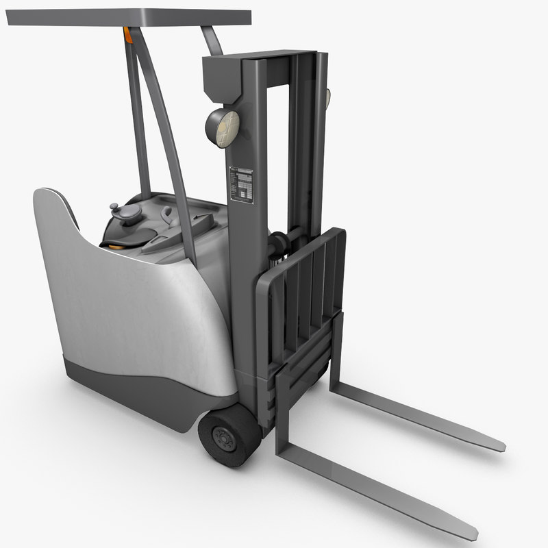 max 3-wheel stand-up counterbalance forklift