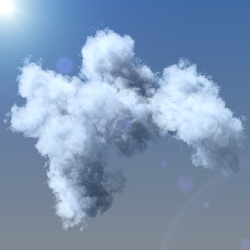 clouds grid 3d max